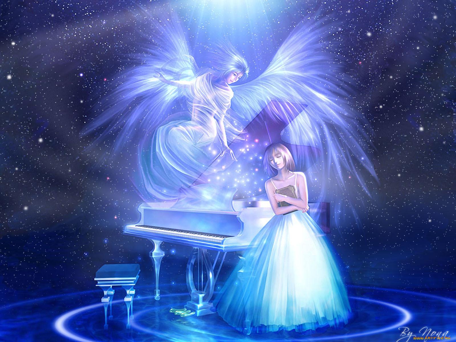 Ангел и звезды картинки
